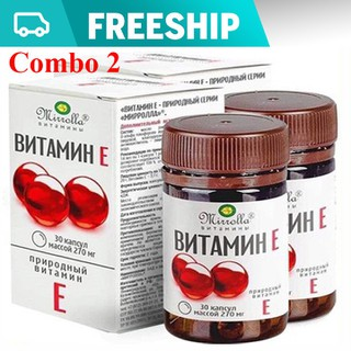 [COMBO 2 HỘP] Vitamin E đỏ Mirrolla hộp 30 viên Chính Hãng tốt cho sức khỏe,Đẹp da - Vitamin E hp 30v thumbnail