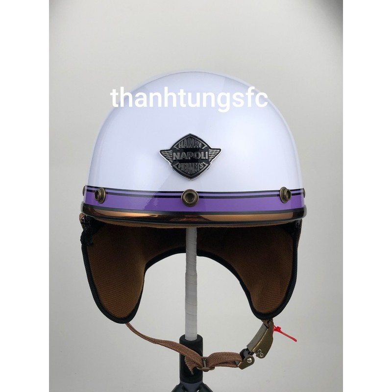 nón bảo hiểm 1/2 đầu NAPOLI kiểu nón phi công mẫu mới siêu đẹp(bảo hành 12 tháng) – nón bảo hiểm phi công
