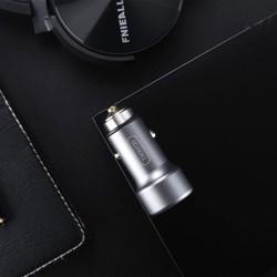 Tẩu sạc ô tô C6 hỗ trợ sạc nhanh 3.5A, 2 cổng USB sạc 2 thiết bị cùng lúc, chất liệu nhựa PC+ABS an toàn (Màu xám)