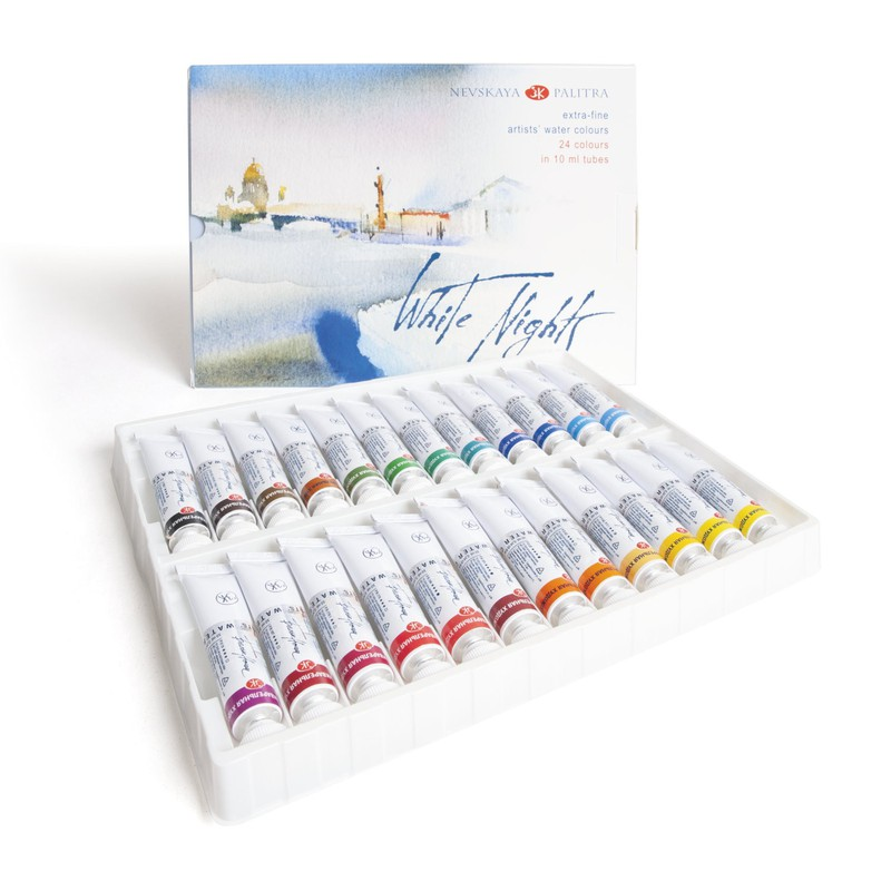 Màu nước White Nights dạng tuýp, Watercolor WhiteNights Tubes 10ml – WhiteNights Tubes