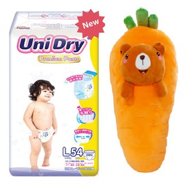 [Tặng 1 thú bông cà rốt] Tã quần Unidry Premium size M60 - size L54 - size XL48 - PR-05
