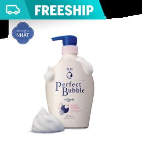 Sữa tắm dưỡng ẩm Senka Perfect Bubble - Hương Hoa Hồng & Đinh Hương 500ml - 4901872443758