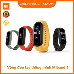 Vòng tay theo dõi sức khoẻ Xiaomi Mi Band 5- Đồng hồ thông minh Miband 5 - Chính Hãng Xiaomi