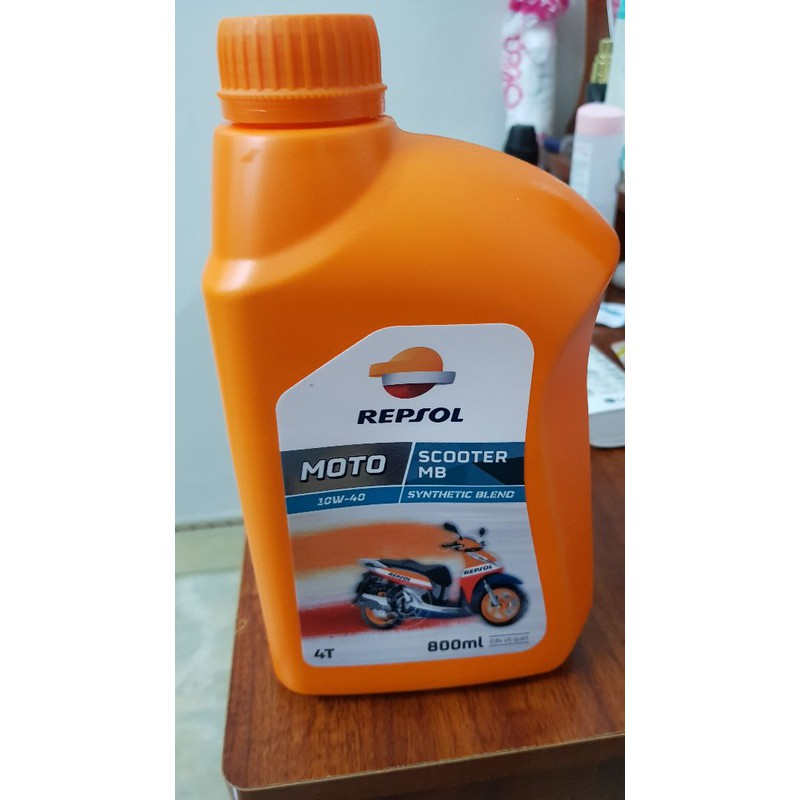 Nhớt xe tay ga cao cấp repsol scooter Synthetic 10W40 800ml MB – repsol moto scooter 10W40 800ml MB