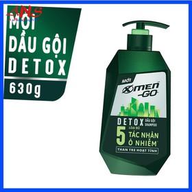 Dầu gọi X-Men Go Detox 630gr- hương thơm nam tính, mạnh mẽ - DG XM-G630fs