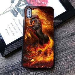 ốp lưng kính cho iphone hình ngựa lửa đủ mã từ 6 đến 11 pro max