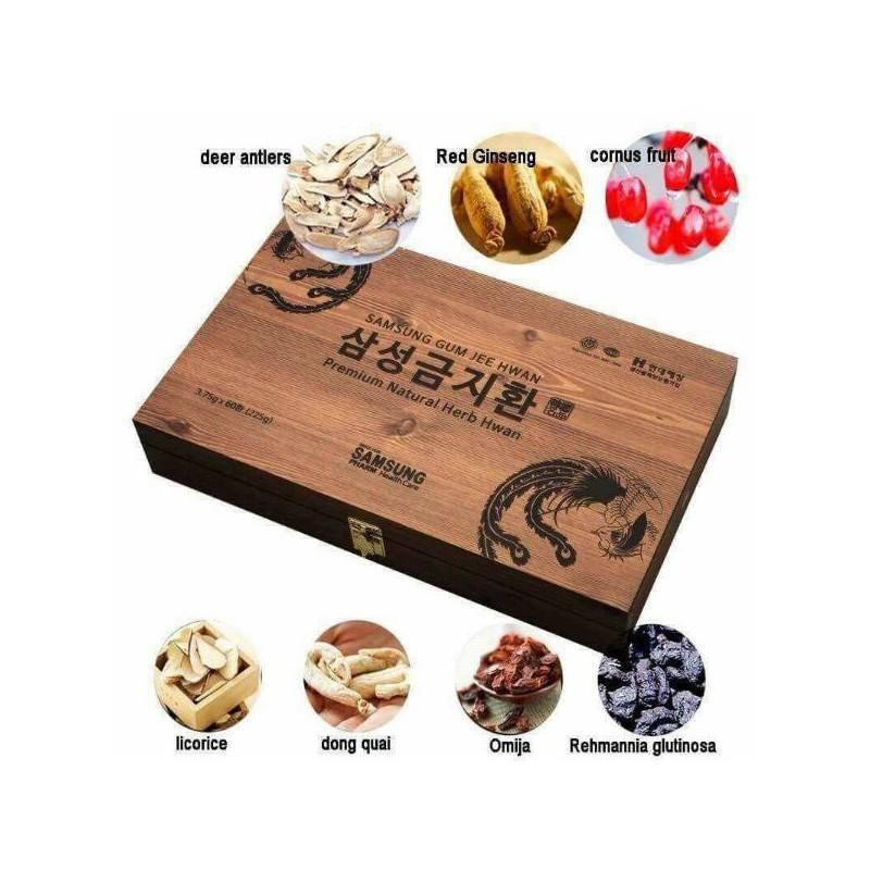An cung Ngưu Hoàng Hàn Quốc hộp gỗ 60 viên – An Cung