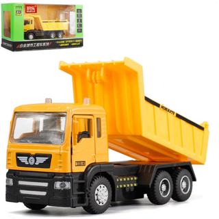 Xe ô tô tải chở hàng đồ chơi trẻ em mô hình tỉ lệ 1 50 có cabin bằng kim loại thùng xe có thể lật được - XE TẢI 1 50 thumbnail