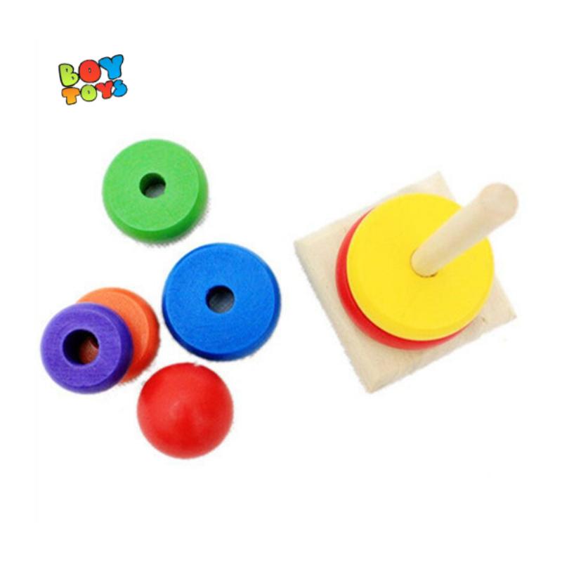 Đồ chơi tháp cầu vồng gỗ cho bé thỏa sức vui chơi – TCV0260