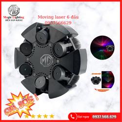 Moving Laser 6 Đầu RGB - Đèn Sân Khấu Tphcm
