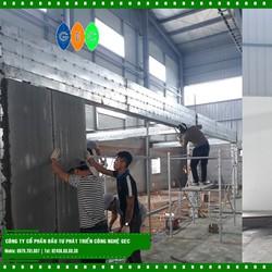 Tấm tường bê tông siêu nhẹ tại Phú Thọ