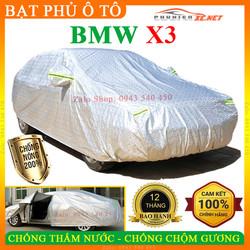 [3 LỚP] Bạt phủ ô tô BMW-X3 CAO CẤP - CHỐNG CHỘM GƯƠNG. NẮNG NÓNG, NƯỚC MƯA - PHUKIENXE, Bạt phủ xe ô tô BMW-X3, Bạt che ô tô BMW-X3