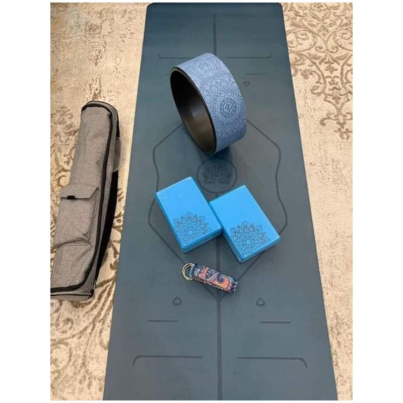 Combo yoga vòng, gạch, dây tập cao cấp – COMBOVGD