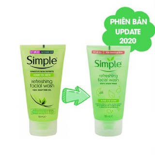Sữa Rửa Mặt Simple Kind To Skin Refreshing Facial Wash Gel - SRMSIMPLE thumbnail