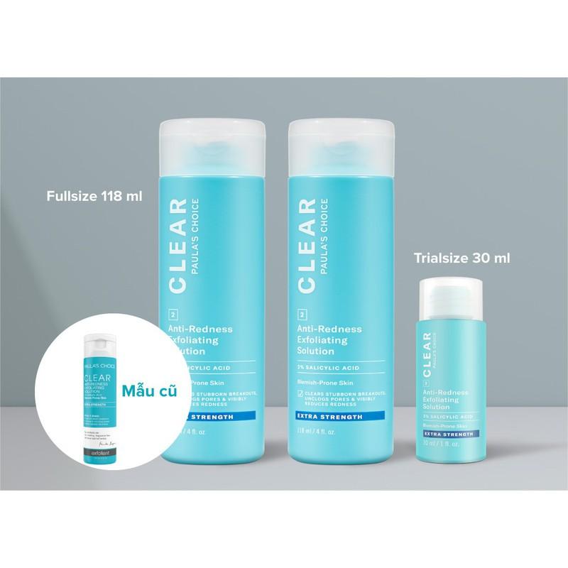 Loại Bỏ Tế Bào Chết Paula's Choice Clear Regular Strength Anti Redness Exfoliating Solution (30ml) – Paula's Choice Clear Regular Strength Anti