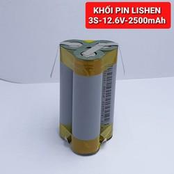 achun.vn - KHỐI PIN Lishen 3S - 12V - 2500mah thay thế Pin máy khoan Trung Quốc