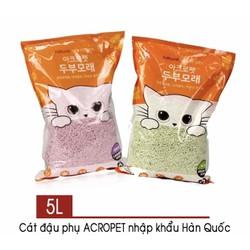 Cát tofu Hàn Quốc cho mèo gói 5L