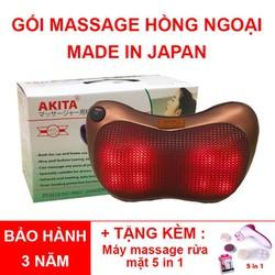 Gối Massage Hồng Ngoại 8 Bi Nhật Bản Tự Động Đảo Chiều
