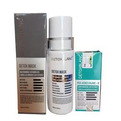 Bộ đôi Serum trị mụn Và Mặt nạ sủi bọt thải độc trắng da Detox BlanC
