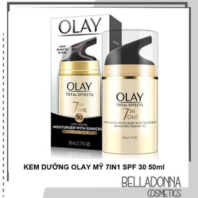 Kem dưỡng da chống lại 7 dấu hiệu lão hóa Olay Total Effects 7 in One Anti-Aging Moisturizer With Sunscreen Broad Spectrum SPF 30 50ml - olay.voi.spf30