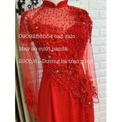 áo dài big size đỏ 80kg cô dâu sang trọng tôn dáng