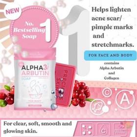 Xà phòng kích trắng Alpha Arbutin Collagen Soap Thái Lan - Xà phòng kích trắng Alpha Arbutin