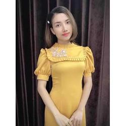 áo dài bê quả vàng đồng bánh bèo bưng mâm bê tráp