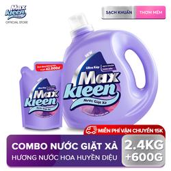 [MIỄN PHÍ VẬN CHUYỂN] Combo Nước giặt xả Maxkleen hương huyền diệu: 1 Chai 2.4kg + 1 Túi 600g