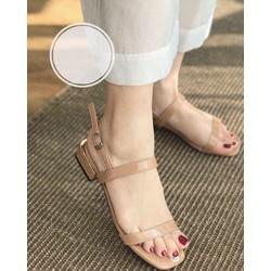 Sandal nữ - sandal cao gót, gót vuông 3p (miễn ship khách lấy như hình hướng dẫn)
