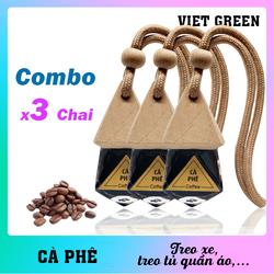 Tinh dầu treo xe Cà Phê - Combo 3 chai