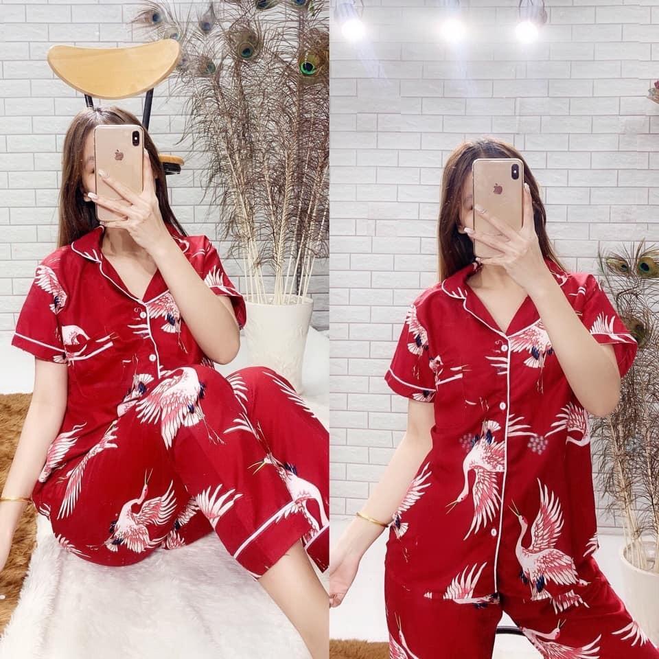 Bộ pijama kate thái loại 1 quần dài - ẢNH THẬT - CHO XEM HÀNG