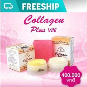 [CHÍNH HÃNG] Set Kem Đặc Trị Nám Tàn Nhang Collagen Plus Vit E - Chính Hãng - SN3435
