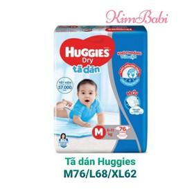 Tã dán Huggies Dry M76/L68 - Tã dán Huggies Super