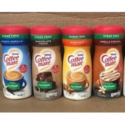 Bột Kem Béo Pha Cà Phê, trà sữa, kem, bánh  dành cho người ăn kiêng và tiêu đường Nestle Coffee-Mate Sugar Free của Mỹ