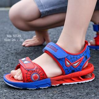 Giày sandal siêu nhân bé trai 3-12 tuổi phong cách độc đáo lạ mắt phù hợp đi học đi chơi ST39 - ST39DO thumbnail