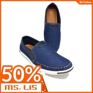 Giày lười nam - Giày lười nam vải bố cao cấp GGS-VB15 - Giày lười nam VAIBO15 thumbnail