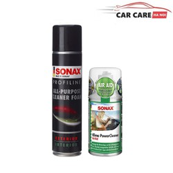 Bộ sản phẩm vệ sinh nội thất đa năng 274300 và khử mùi điều hòa sonax 323100