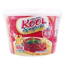 E - Mì Kool Spaghetti Xốt Bò Bằm Tô 105G