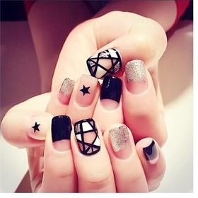 Bộ 24 móng tay nhân tạo cực xinh kèm keo dán dễ sử dụng - nail