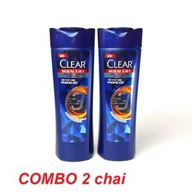 Freeship - COMBO 2 CHAI Clear Men 3in1 (tắm, gội, dưỡng) - Mỗi chai 70gr - ZNA34