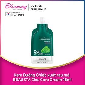 Kem Dưỡng Chiếc xuất rau má BEAUSTA Cica Care Cream 15ml - 8809577460819