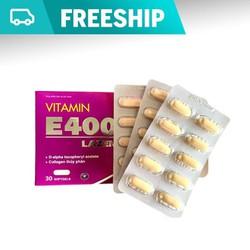 Viên uống Vitamin E400 kết hợp Collagen hộp 30 Viên - Dùng 1 tháng - Đẹp da - Chống lão hóa