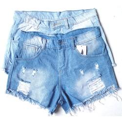 Quần short nữ, quần jean nữ lưng cao lai tua rua (3 màu)