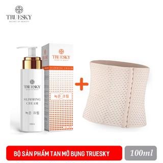 Bộ sản phẩm tan mỡ bụng Truesky cao cấp gồm (1 kem tan mỡ bụng quế gừng 100ml & 1 đai nịch bụng quấn nóng cao cấp) - BỘ TAN MỠ GEL TAN MỠ 100ML + ĐAI NỊCH BỤNG thumbnail
