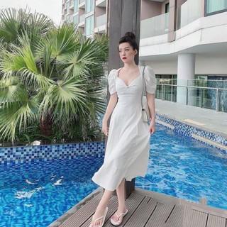 Đầm nữ màu trắng - Váy đũi trắng đi biển thumbnail
