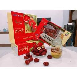 [FREESHIP] Táo đỏ sấy khô Hàn Quốc hộp 1kg kèm túi xách loại quả to ngon