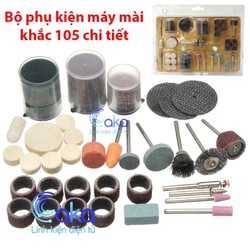Bộ phụ kiện mài khắc đa năng 105 chi tiết cho máy khoan mài mini