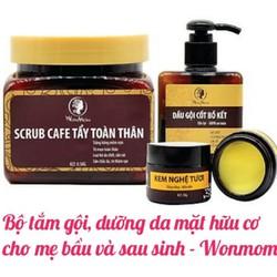 Combo Bộ tắm gội và dưỡng da mặt hữu cơ cho mẹ bầu và sau sinh Wonmom