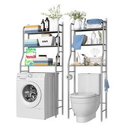 Kệ Để Đồ Phòng Vệ Sinh Sau Toilet Thông Minh - Nội Thất Nhà Tắm-Kệ 3 tầng để đồ phía trên bồn cầu tiết kiệm không gian- Kệ để đồ trên máy giặt thông minh tiện lợi