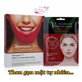 MẶT NẠ Dermapeel+ Vline Slim Mask Pack - Thon gọn mặt tự nhiên - nâng cơ mặt cho phái đẹp - dermapeel012 thumbnail